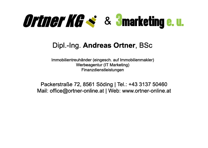 Ortner Online - Immobilien, Werbung, Marketing, Finanzdienstleistungen
